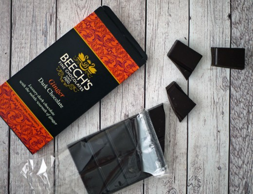 Beech's Dark Chocolate Ginger bar