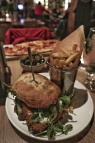 Halloumi schnitzel burger (£13.50)