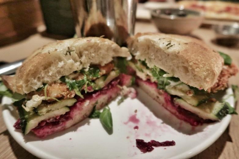 Inside the halloumi schnitzel burger (£13.50)