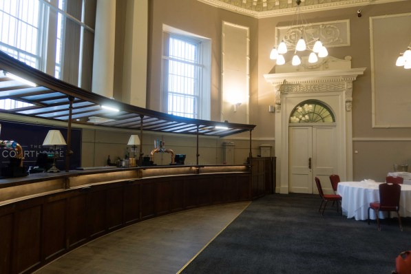The Courtroom with its own bar