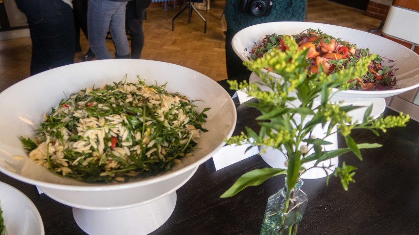 A selection of salads from The Refuge by Volta