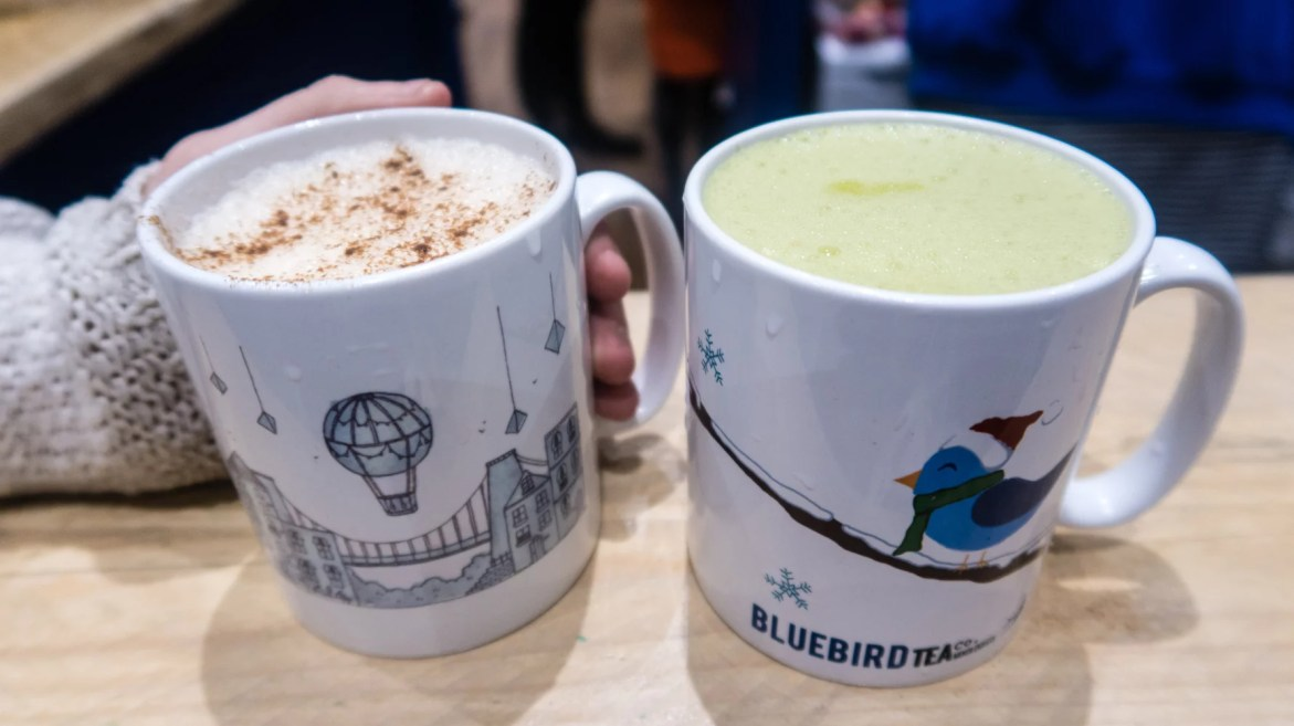 Dairy free chai latte and matcha latte