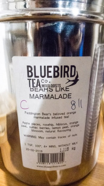 Ingredients used in the Bears like Marmalade tea