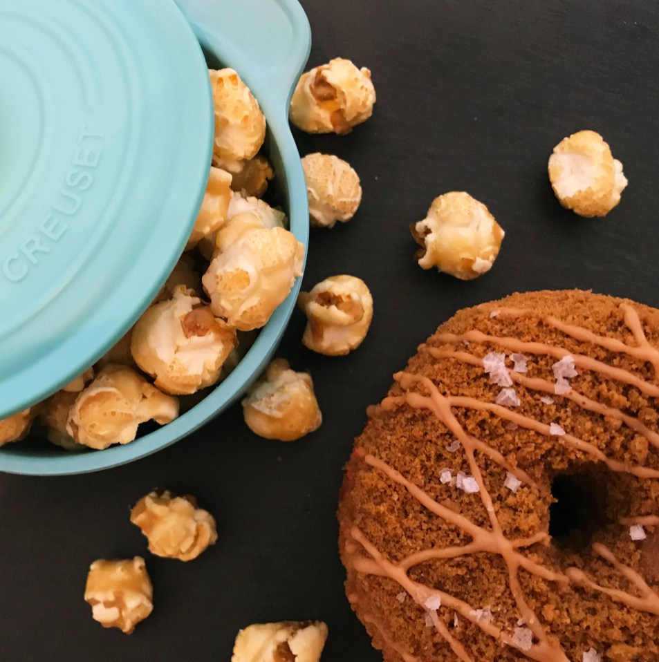 A Yes! Doughnut and popcorn