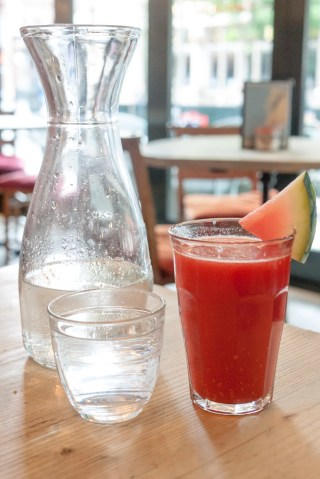 Watermelon, Peach and Raspberry Juice (£3.20)