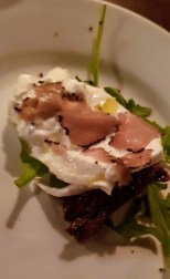 Burrata cheese with truffle