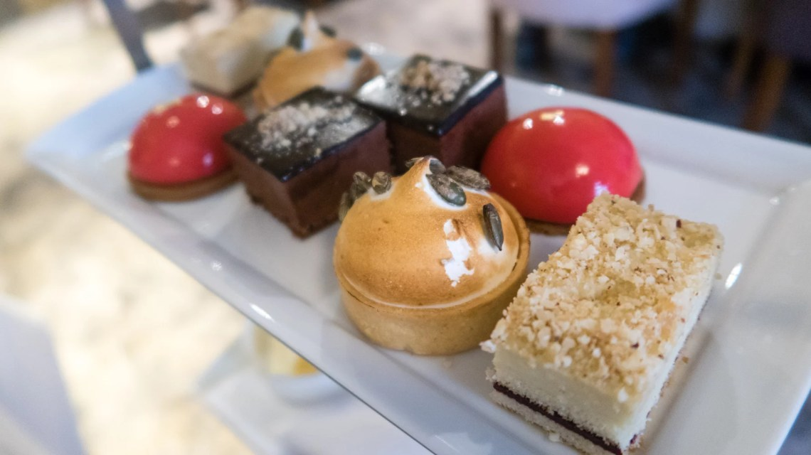 Midlands Hotel Afternoon tea cakes