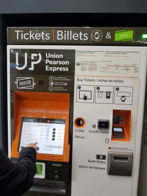 UP Express ticket machine