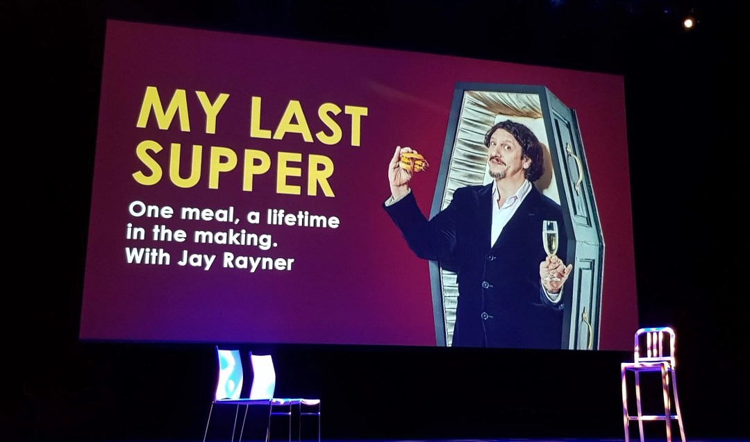 Jay Rayner My Last Supper show