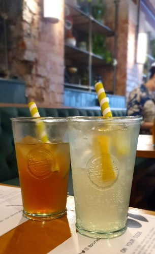 Homemade cola and lemonade from Purezza