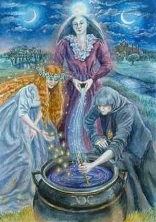 La diosa Briga tiene tres aspectos diferentes que son todos partes de la misma diosa sin edad.