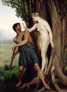 Hamadríade y un leñador