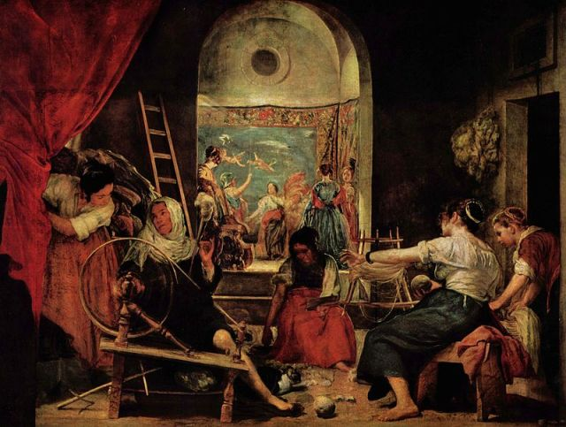 La fábula de Aracne: representación del mito por Velázquez.
