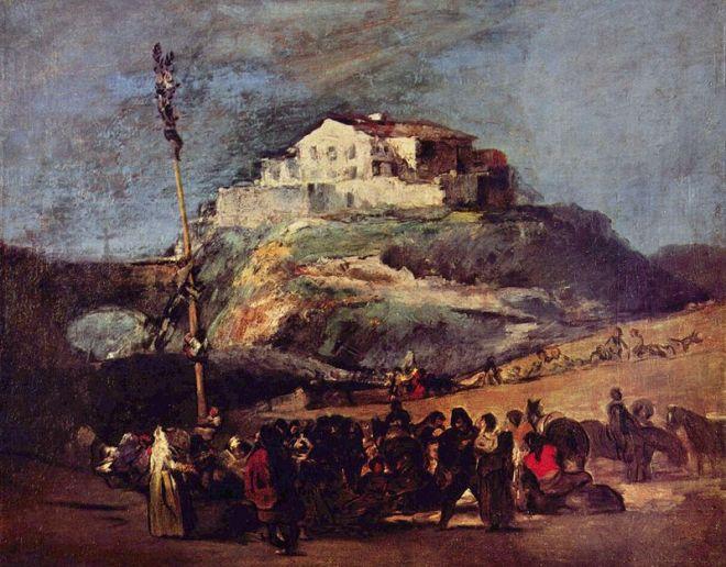 El árbol de mayo en un cuadro de Francisco de Goya.