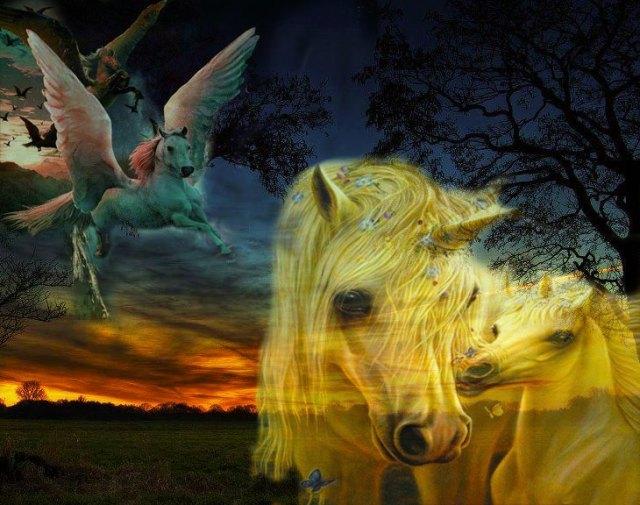 El caballo, un espíritu libre. EL pegasus mitológico nos presenta a un poderoso caballo alado, con el cual poder surcar los cielos y sentirnos libres.