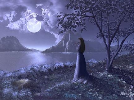 mujer-mirando-a-la-luna