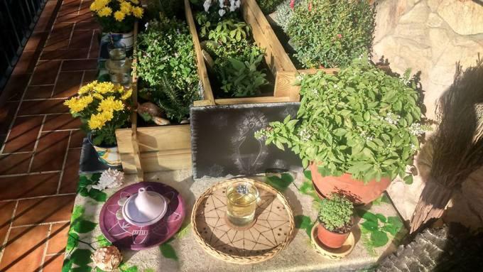 Altar a la Virgen Blanca, la Blanca Paloma en mi jardín sagrado