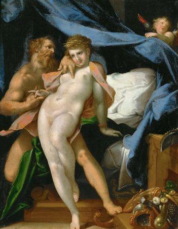 """""""Vulcano y Maia"""" (1585), cuadro de Bartholomäus Spranger"""