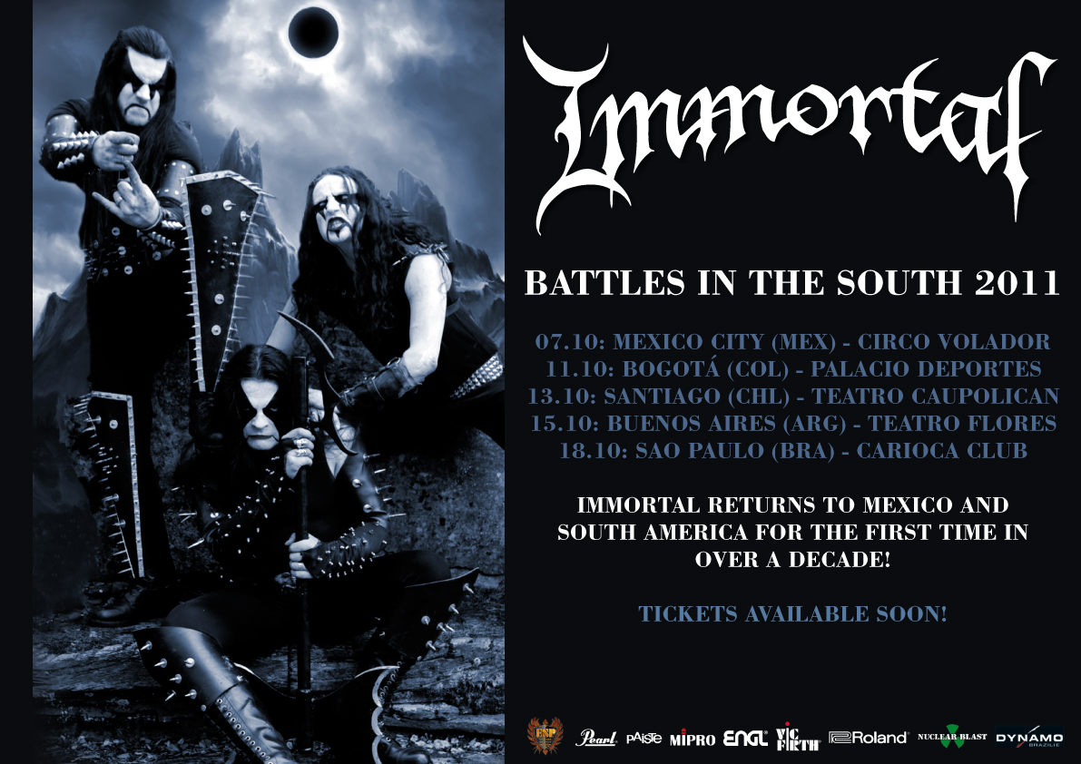 IMMORTAL en Colombia 2011