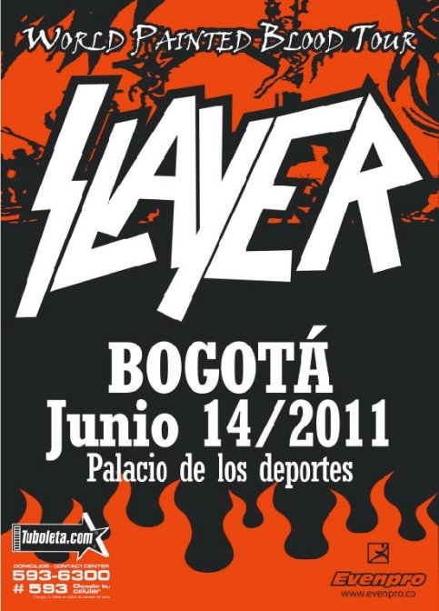SLAYER en Colombia 2011 – World Painted Blood Tour: Finalistas concurso banda telonera
