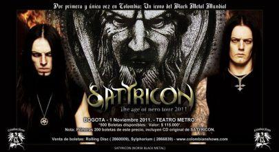 Satyricon en Colombia - Teatro Metropol