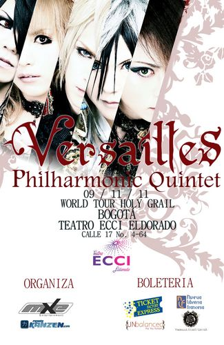 VERSAILLES en Colombia 2011, World Tour 2011-Holy Grail en el Teatro ECCI de Bogota