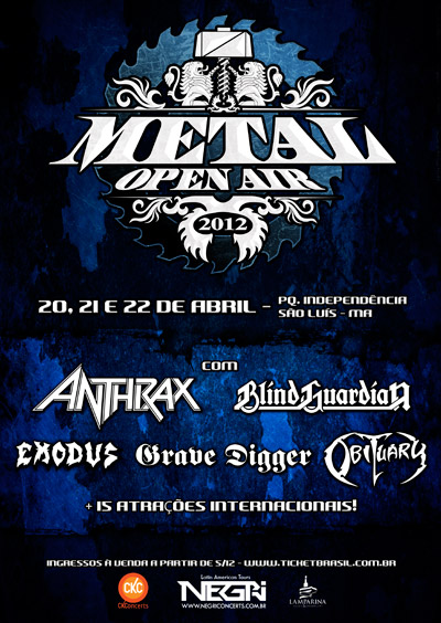 Cartel de bandas METAL OPEN AIR 2012