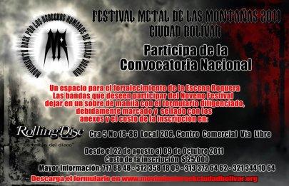 Convocatoria Festival de las Montañas 2011 - Movimiento Ciudad Rock