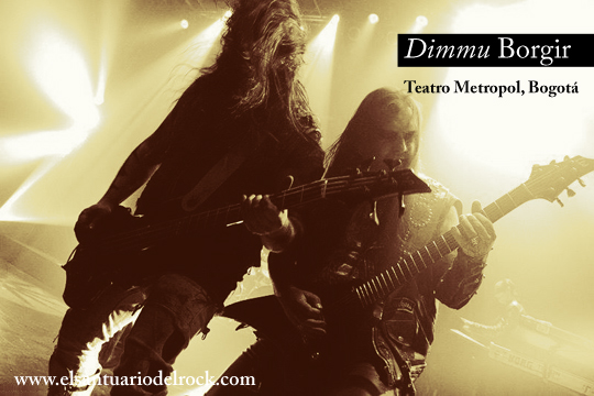 Reseña concierto de Dimmu Borgir en Colombia 2012, Feb 27 en el Teatro Metropol de Bogota