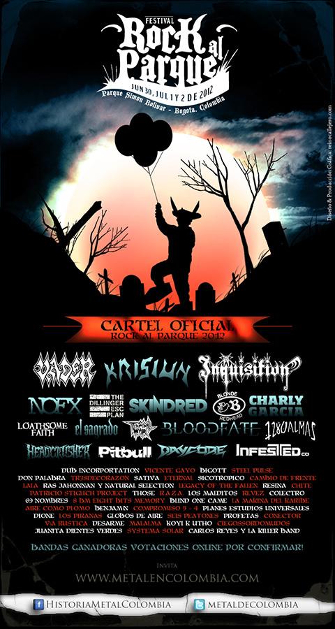 Afiche metal Rock al Parque 2012