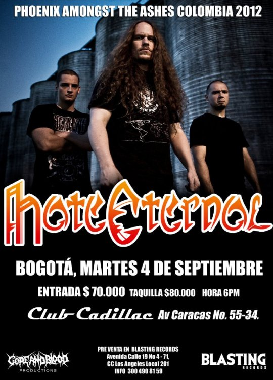 HATE ETERNAL en Colombia 2012