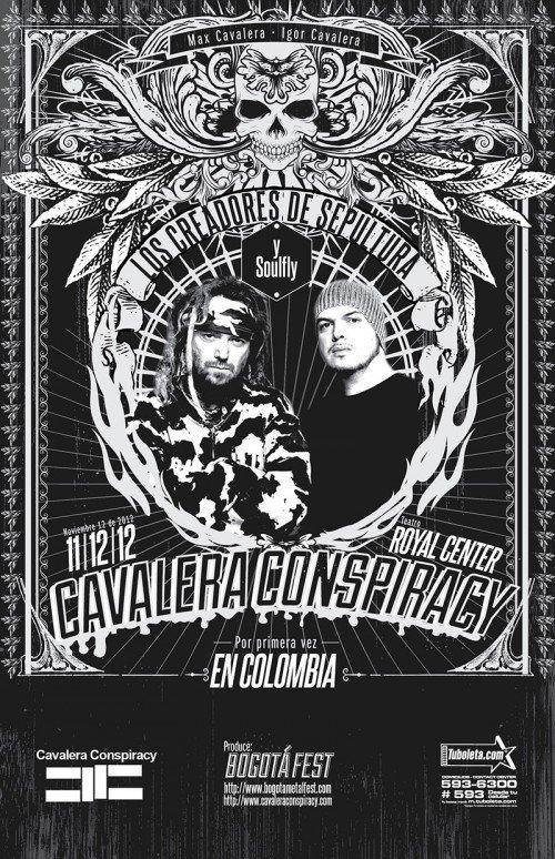 CAVALERA CONSPIRACY en Colombia 2012, Nov 12 Teatro Royal Center de Bogota