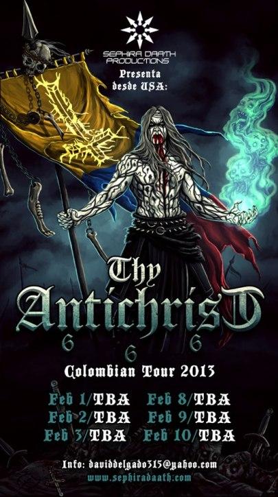 Thy Antichrist en Colombia 2013