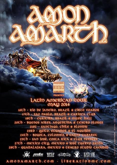 Amon Amarth en Colombia 2014