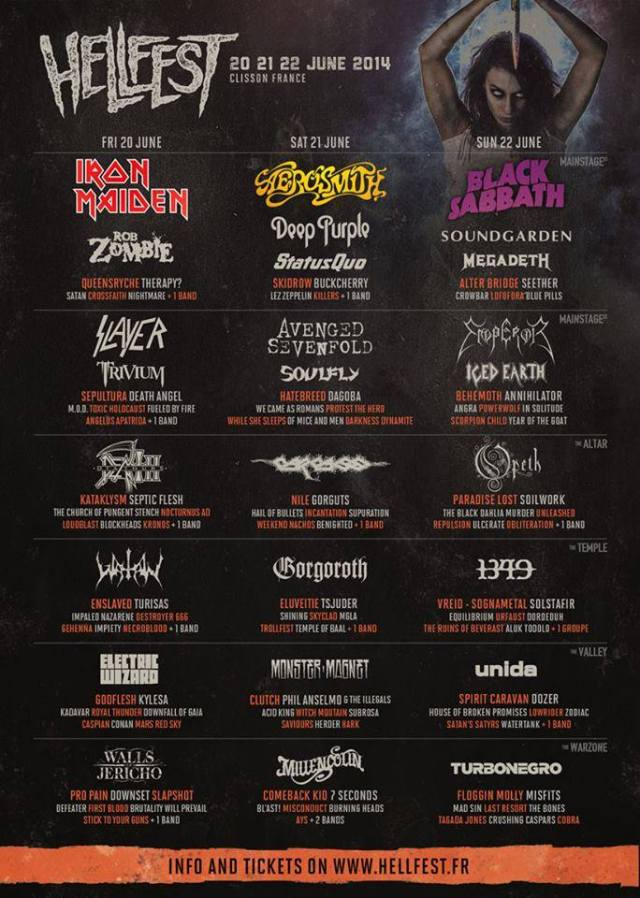 hellfest 2014 line up