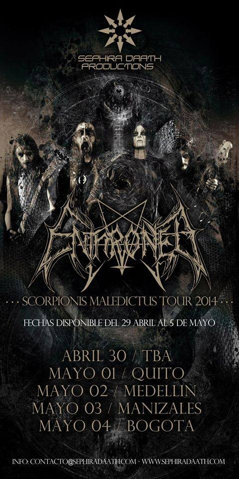 ENTHRONED colombia 2014