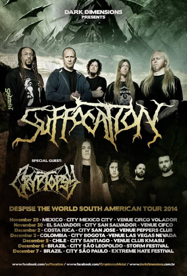 suffocation Cryptopsy colombia 2014