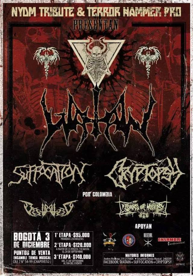 watain suffocation cryptopsy colombia