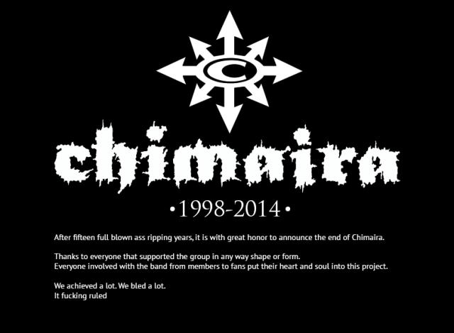chimaira 2014 end