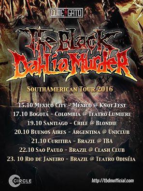 the black dahlia murder sudamerica 2016