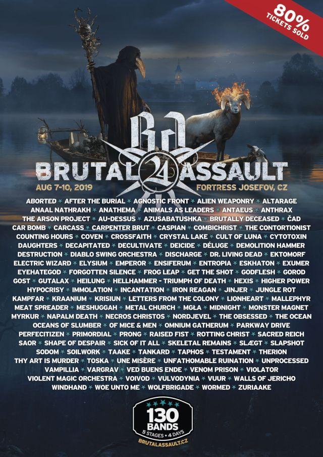 BRUTAL ASSAULT FESTIVAL 2019 el resto de bandas confirmadas