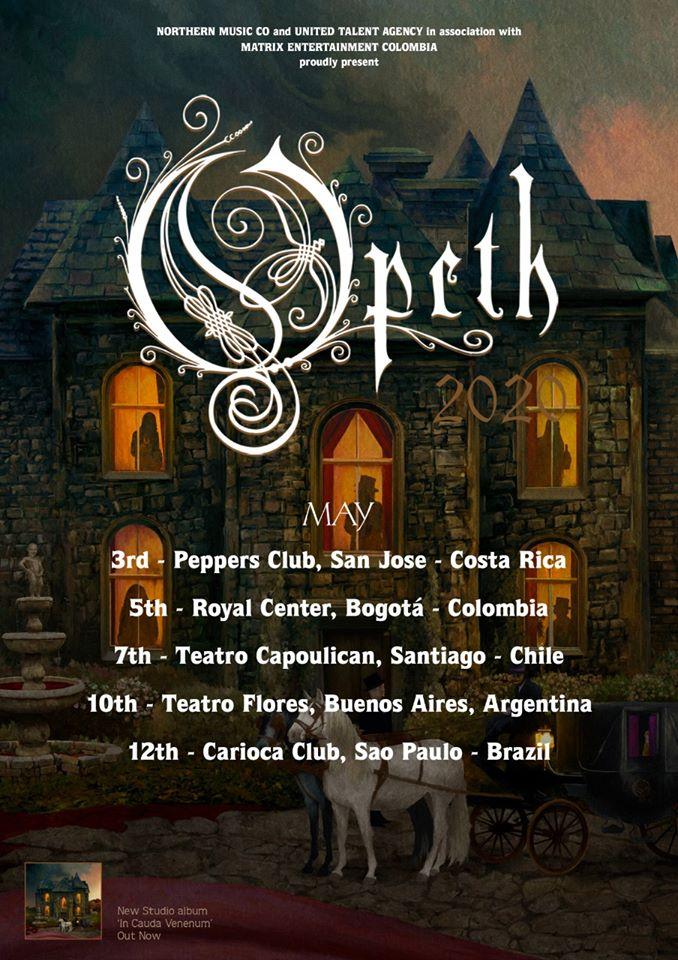 Opeth en Colombia 2020 Boletas