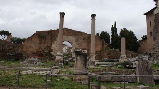 Restos de la antigua ciudad de Roma