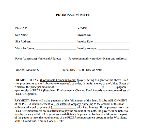 Promissory Note Free Download