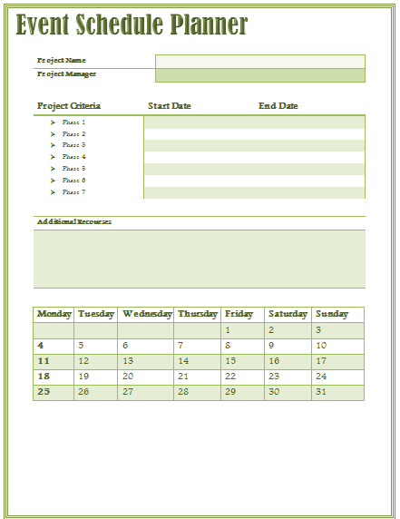10 event program template free download word excel pdf for One day event schedule template