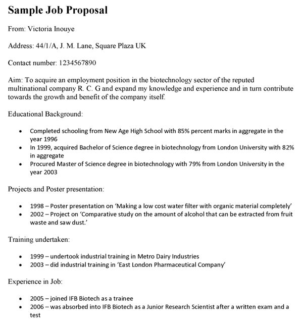 Job Proposal Template To Pitch To New Employers!!