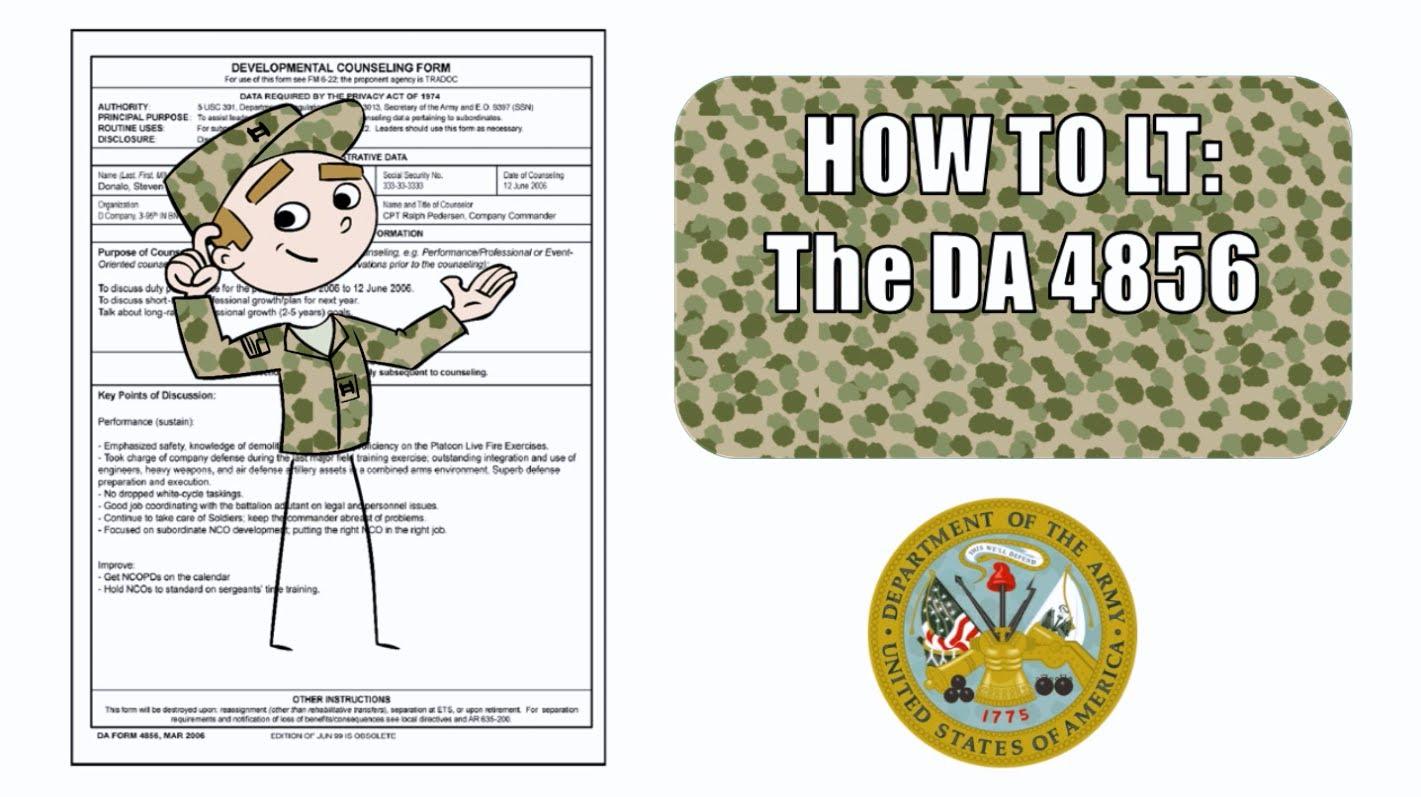 da form 4856 initial counseling fillable army counseling form - Army Counseling Form