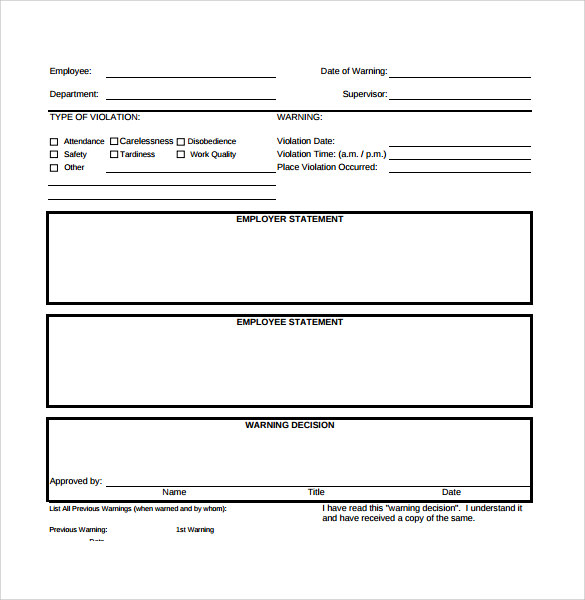 15+ Employee Write up Form Templates- Free Printables!!