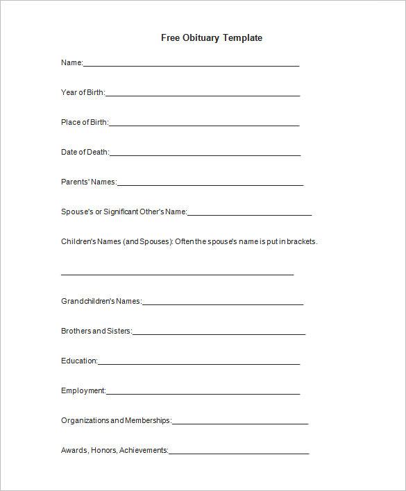5 obituary template and samples free download obituary templates saigontimesfo