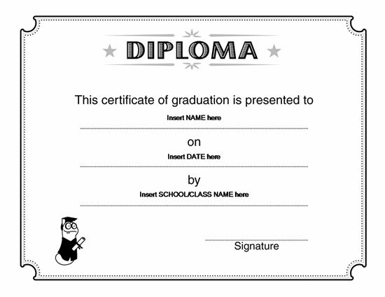 free high school diploma template